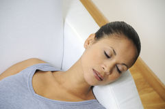 Beautiful woman sleeping Stock Photos