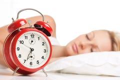 Beautiful woman sleeping Stock Photography
