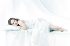 Beautiful woman sleeping Royalty Free Stock Photography