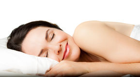 Beautiful woman sleeping Stock Images