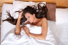 Beautiful woman sleeping Royalty Free Stock Images