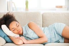Beautiful woman sleeping. Stock Photos