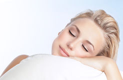 Beautiful woman sleeping Royalty Free Stock Photo