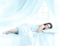 Beautiful woman sleeping Stock Images
