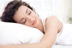 Beautiful woman sleeping Stock Photo