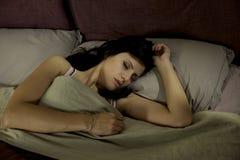 Beautiful woman sleeping peaceful Stock Photography