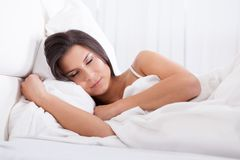 Beautiful woman sleeping peacefully Royalty Free Stock Photo
