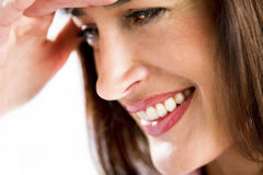 Beautiful Woman Smile. Close-up of a beautiful woman smiling Stock Images