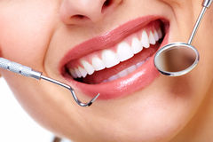 Beautiful woman smile. Dental health care clinic Stock Images