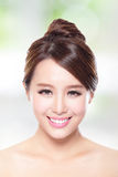 Beautiful woman smile with clean face skin Royalty Free Stock Images