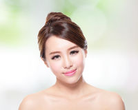 Beautiful woman smile with clean face skin Royalty Free Stock Photography