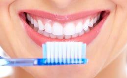 Beautiful woman smile. Dental health Stock Photography