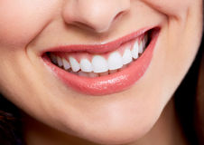 Beautiful woman smile. Dental health care background Stock Images