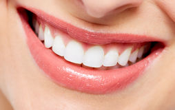 Beautiful woman smile. Dental health care background Royalty Free Stock Photo