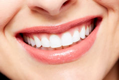 Beautiful woman smile. Dental health care background Royalty Free Stock Photography
