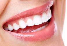Beautiful woman smile. Dental health care clinic Royalty Free Stock Photos