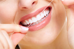 Beautiful woman smile. Dental health care clinic Stock Photography