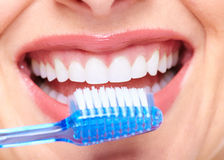 Beautiful woman smile. Dental health care clinic Stock Image