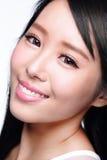 Beautiful woman smile face Stock Photos