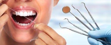 Beautiful woman smile. Beautiful woman smile with healthy white teeth. Dental health care Stock Photography
