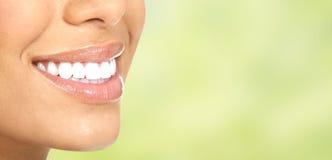 Beautiful woman smile. Beautiful woman smile with healthy white teeth. Dental health care Stock Photos