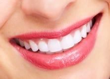 Beautiful woman smile. Beautiful woman smile isolated on white background Stock Image
