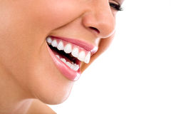 Beautiful woman smile Royalty Free Stock Photos