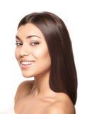 Beautiful woman smile. Teeth whitening. Dental care Stock Photo