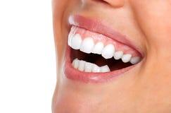 Beautiful woman smile. Stock Photo