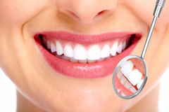 Beautiful woman smile. Beautiful young woman smile. Dental health Royalty Free Stock Photo