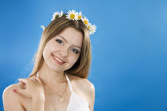 Beautiful woman smiles Stock Photography