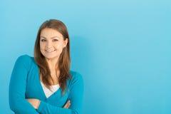 Beautiful woman smiles Stock Photo