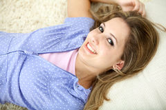 Beautiful woman smiling Stock Images