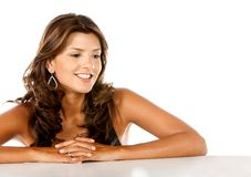 Beautiful woman smiling Royalty Free Stock Image