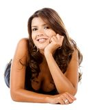 Beautiful woman smiling Stock Photos