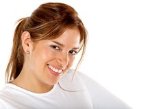 Beautiful woman smiling Stock Photography