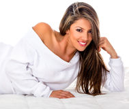 Beautiful woman smiling Stock Photo