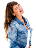 Beautiful woman smiling Stock Image