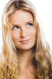 Beautiful woman is smiling Stock Image