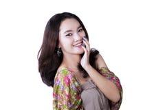Beautiful woman smiling at camera Royalty Free Stock Photo