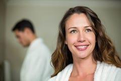 Beautiful woman smiling at camera Stock Photography