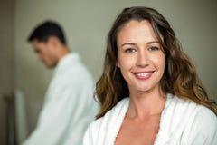 Beautiful woman smiling at camera Royalty Free Stock Images