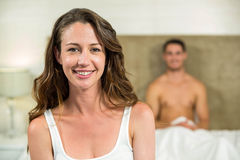 Beautiful woman smiling at camera Stock Photo