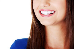 Beautiful woman smiling. Stock Photo