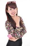 A beautiful woman smiling Stock Photo