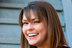 Beautiful woman smiling and laughing Royalty Free Stock Photo