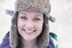 Beautiful woman smiling outside Stock Image