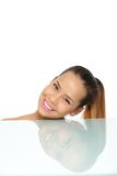 Beautiful Woman Smiling in Studio Royalty Free Stock Photo