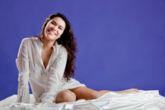 Beautiful woman smilling Royalty Free Stock Images