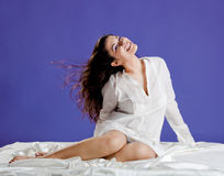 Beautiful woman smilling Royalty Free Stock Photography
